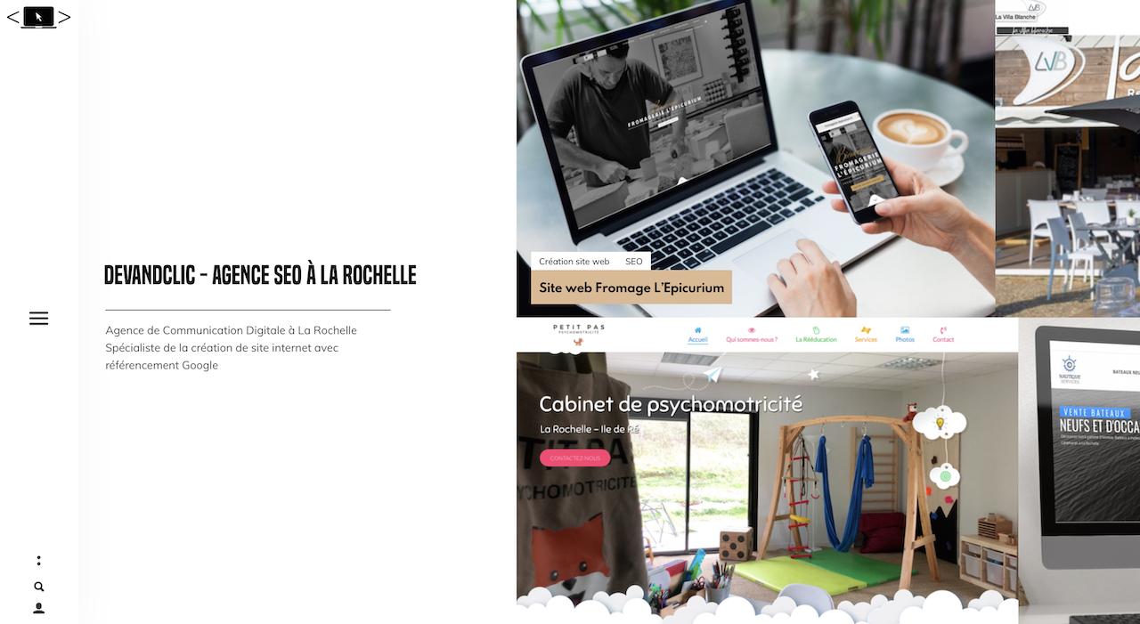 DevandClic - Agence SEO référencement la rochelle page d'accueil